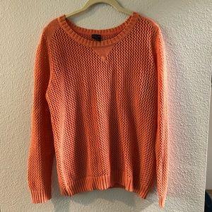 Orange shimmery faded glory sweater XL